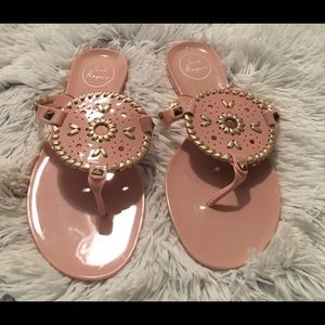 Jack Rogers Pink Jelly Thong Flip Flop